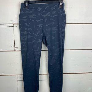 Zyia gray battleship camo luxe leggings 8/10